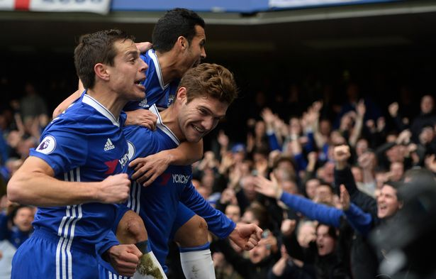 Chelseas-Marcos-Alonso-celebrates-scoring-their-first-goal-with-team-mates