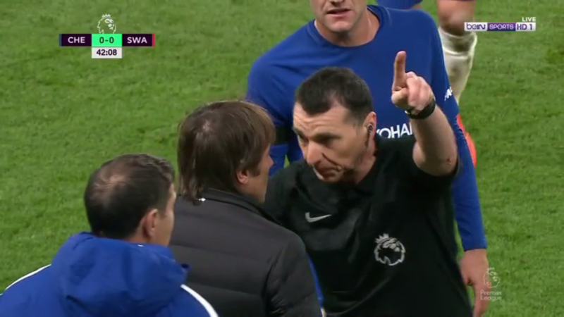 Conte sent to the stands