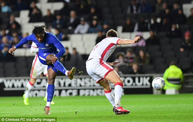 Michy Batshuayi scored twice as he continued his comeback from a foot injury