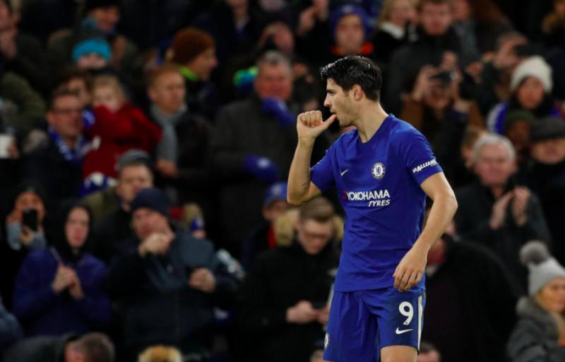 Alvaro Morata has now scored 10 Premier League goals.