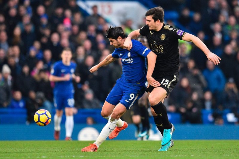 morata fights leicester