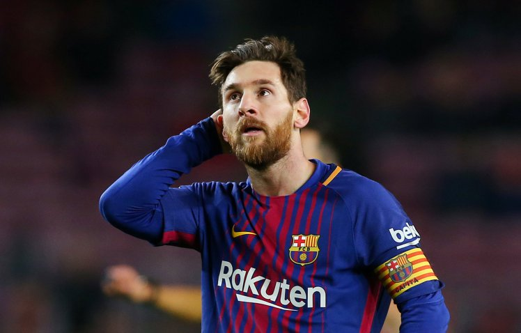Soccer Football - Spanish King's Cup Semi Final First Leg - FC Barcelona vs Valencia - Camp Nou, Barcelona, Spain - February 1, 2018   Barcelona's Lionel Messi after the match                    REUTERS/Albert Gea