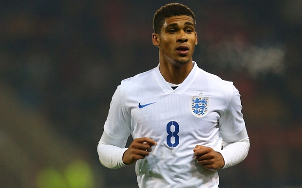 ROTHERHAM, ENGLAND - NOVEMBER 14:  Ruben Loftus-Cheek  of England U19 in action during the International friendly match between England U19 and Italy U19 at The New York Stadium on November 14, 2014 in Rotherham, England.  (Photo by Alex Livesey/Getty Images)