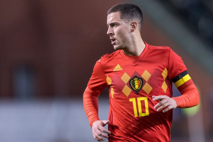 Eden Hazard of Belgium during the friendly match between Belgium and Mexico on November 10, 2017 at the Koning Boudewijn stadium in Brussels, Belgium.(Photo by VI Images via Getty Images)