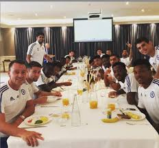 chelsea players meal