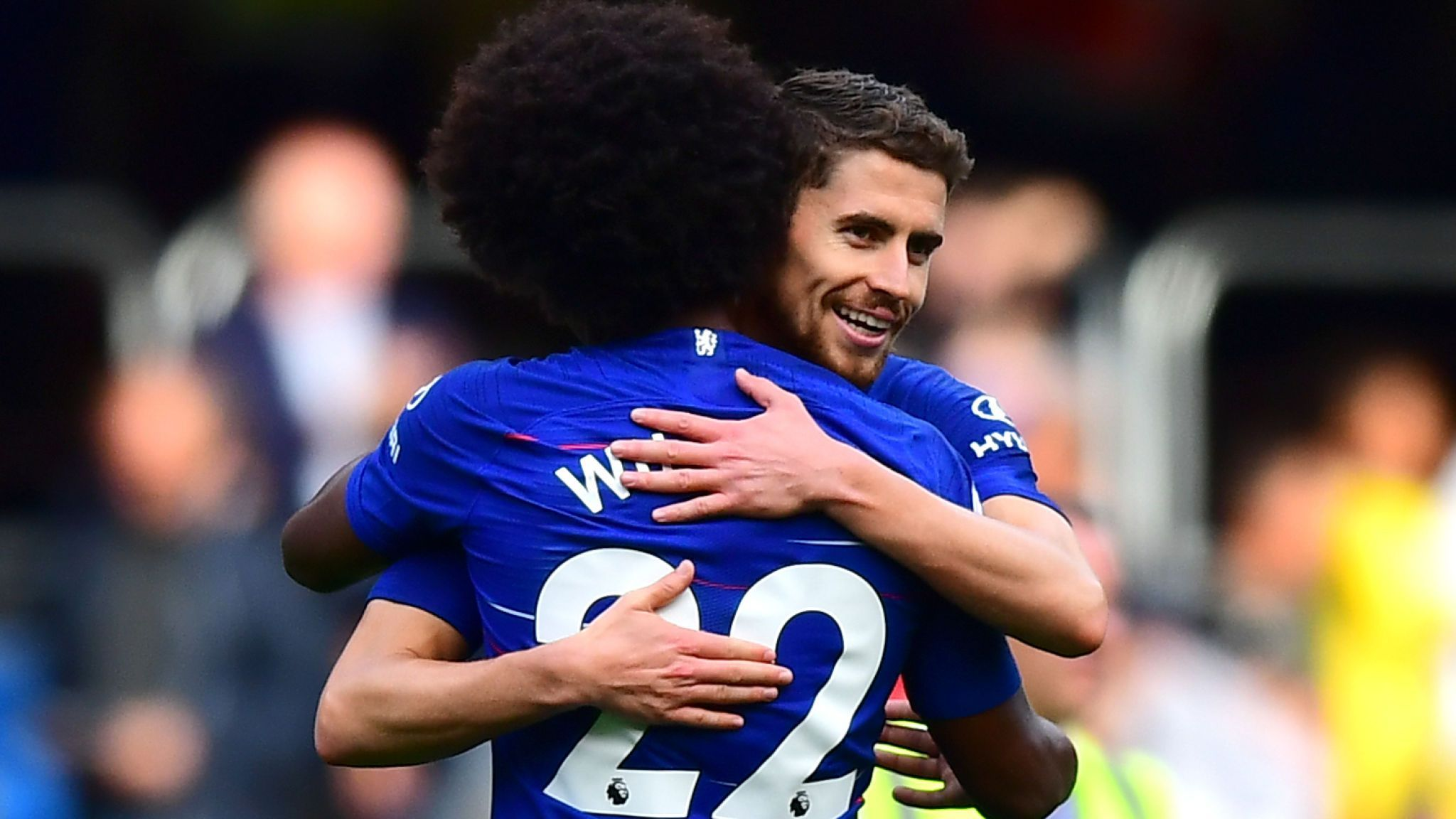 """Image): Willian calls Jorginho """"my captain"""" after another win for ..."""
