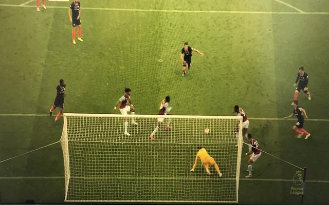 Kepa as Aston Villa score against Chelsea