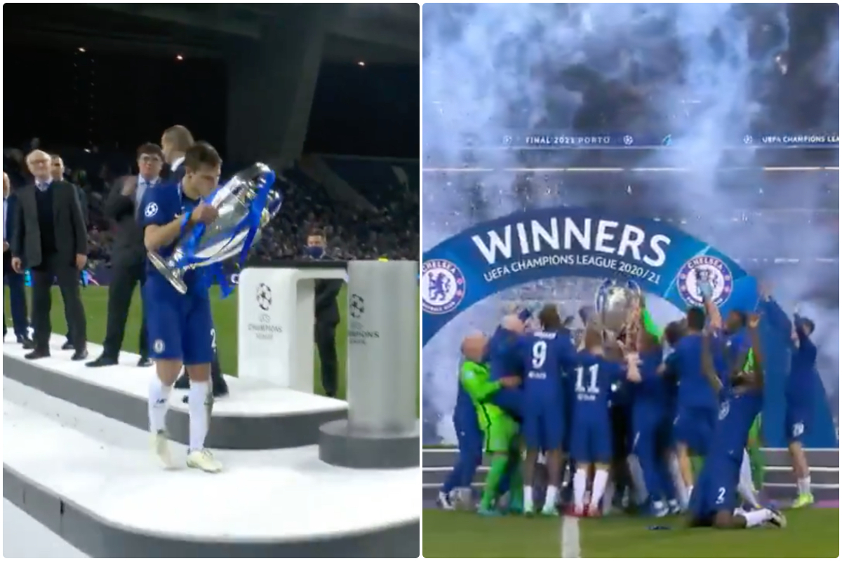 Video - Azpilicueta lifts Champions League trophy for Chelsea and team celebrate